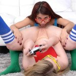 Nerdy Gamer Girls Finger Each Other and More